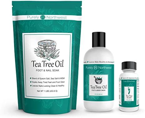 tea tree oil to clear white spots on toenails